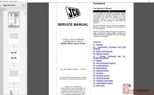 JCB Loadall 508-66, 509-45, 510-44, 510-55 service manual