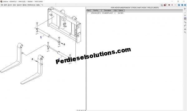 Komatsu forklift Linkone 2013 Spare Parts Catalog