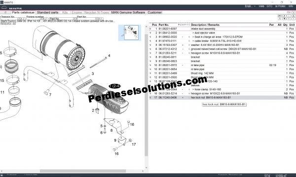 Mantis EPC v612 Spare Parts Catalog
