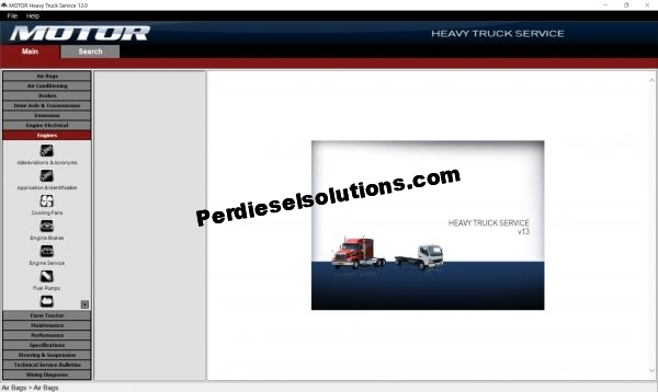 Motor Heavy Truck v13