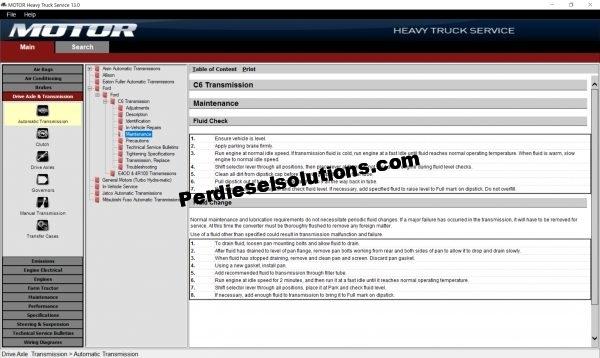 Motor Heavy Truck v13 Technical Information System