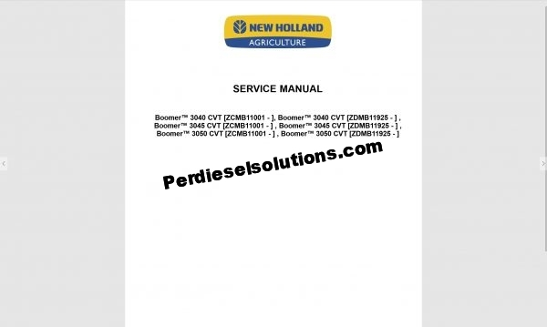 New Holland Agriculture service manual 2019