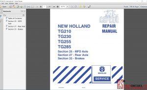 New Holland TG210, TG230, TG255, TG285 Repair manual