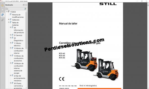 Still Forklift truck workshop manual 03.2019