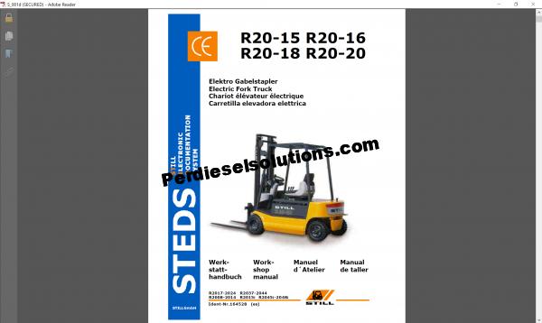 Still STEDS forklift trucks workshop manual