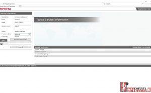 Toyota service information 2019 Workshop manual