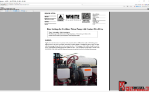 White Planters UK 07.2019 Parts Books & Workshop manual