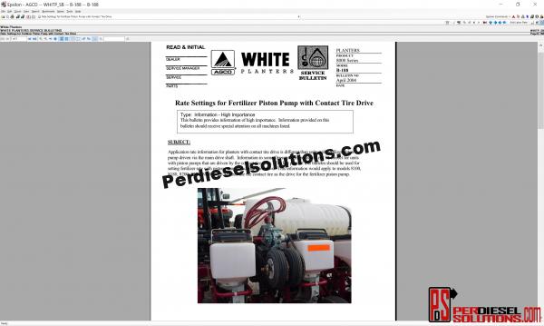 White Planters UK 07.2019 Parts Books & Workshop manual