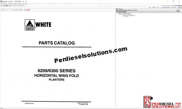 White Planters UK 2019 Parts Books & Workshop manual