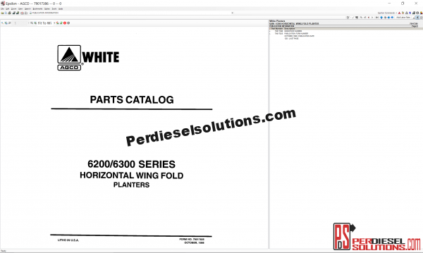 White Planters UK 2019 Parts Books & Workshop manual