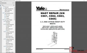 Yale Forklift Class 1 Service Manual & Service manual