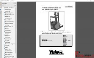 Yale Forklift class 2 Technical Information