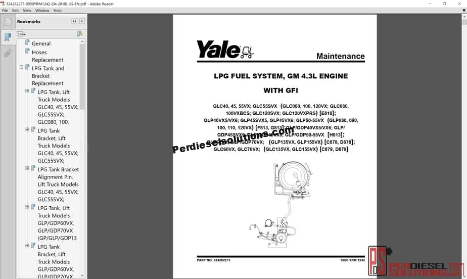 Yale Forklift Class 5 Internal Combustion Engine Trucks