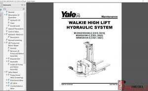 Yale forklift Class 3 repair manual 2019