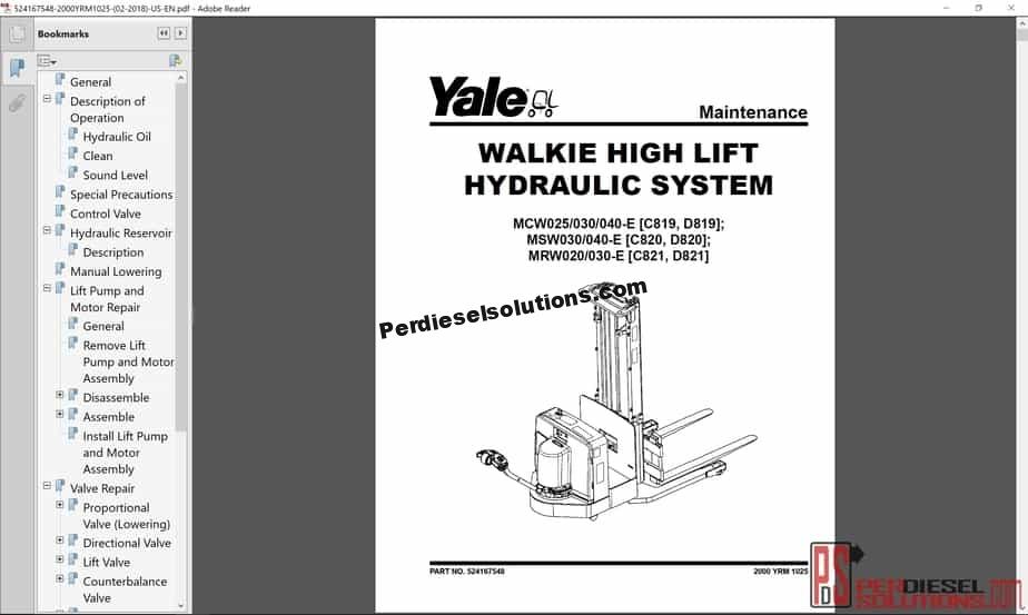 Yale Pallet Jack Wiring Schematic