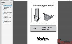 Yale forklift Class 3 repair manual & service manual 2019