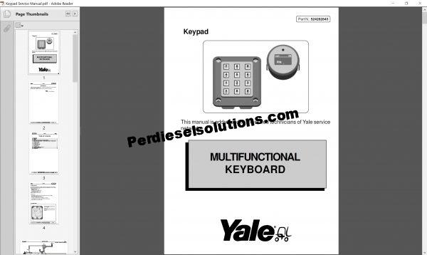 Yale forklift Class 3 repair manual & service manual
