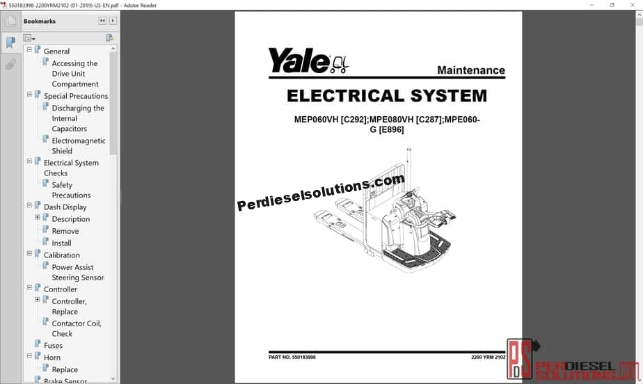 Yale Forklift Class 3 Electric Motor Hand Trucks 2019