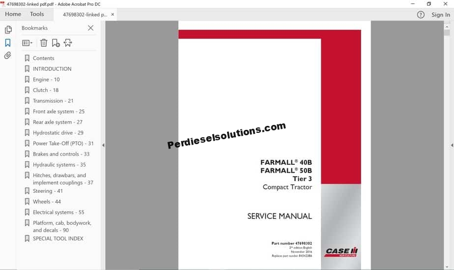 Case IH Agriculture Service Manuals New Models ... Ih Tractor Wiring Diagram Transmission on