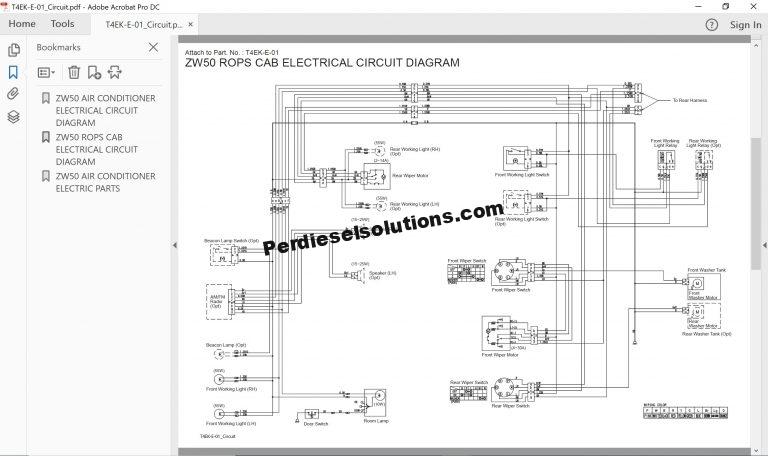 Hitachi Wheel Loader ZW Series Workshop Manual PDF