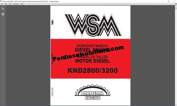 Kubota Workshop Operator Manual Full Set PDF