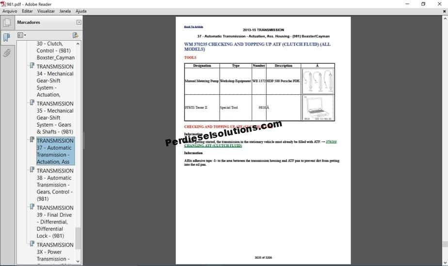 Porsche Workshop Manual    Mobile Technical Library
