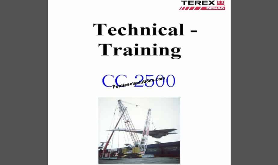 terex demag mobile  crawler crane part manual and service